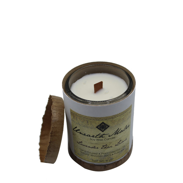 Lavender Thai Lime Essential Oil Soy Candle - Chateau Hi