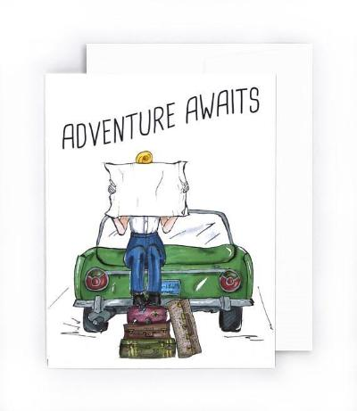 Adventure Awaits going away card