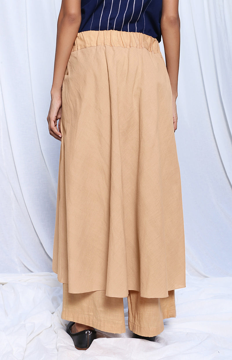Beige Skirt Pants