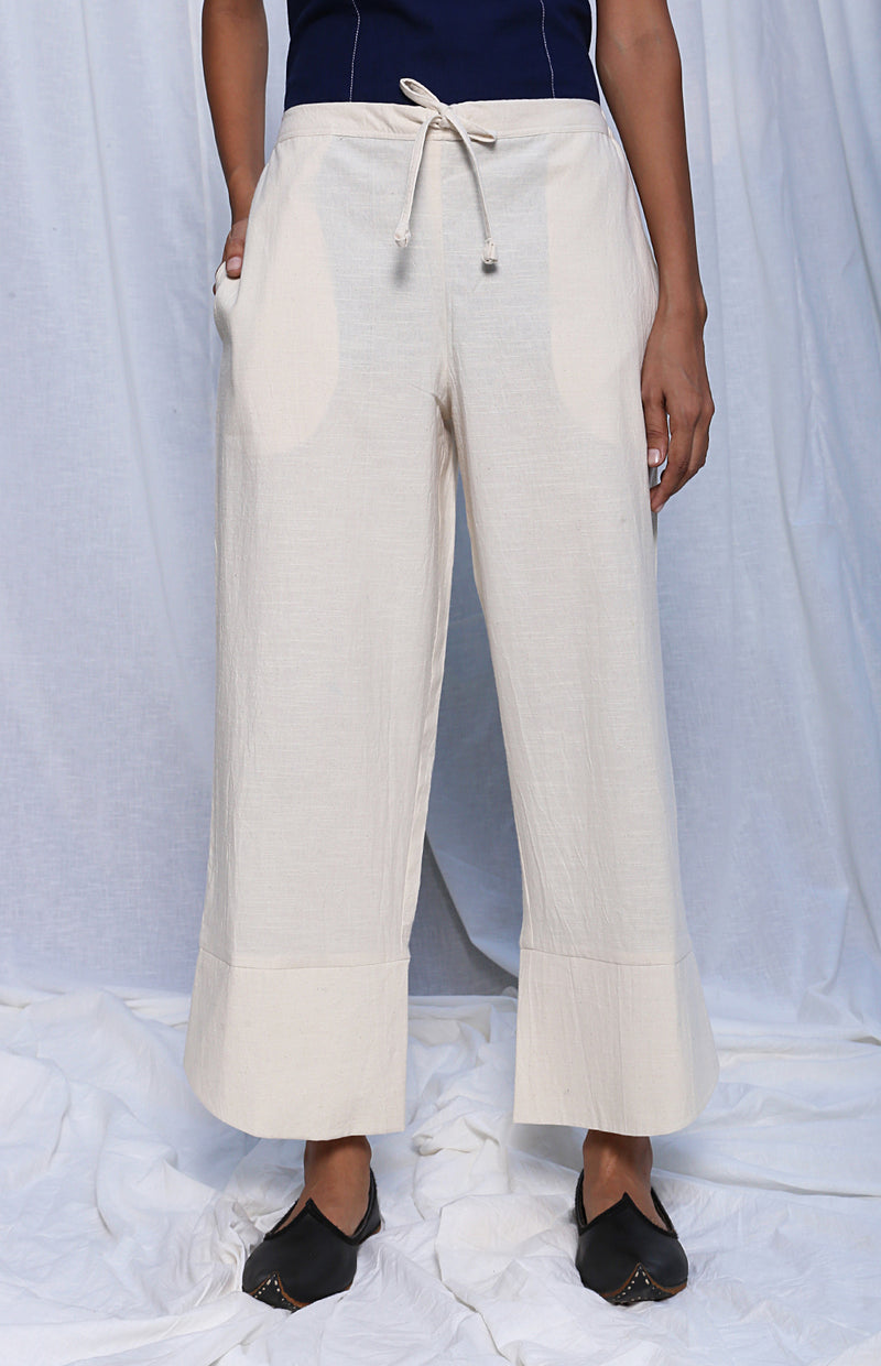 Off White Drawstring Trousers