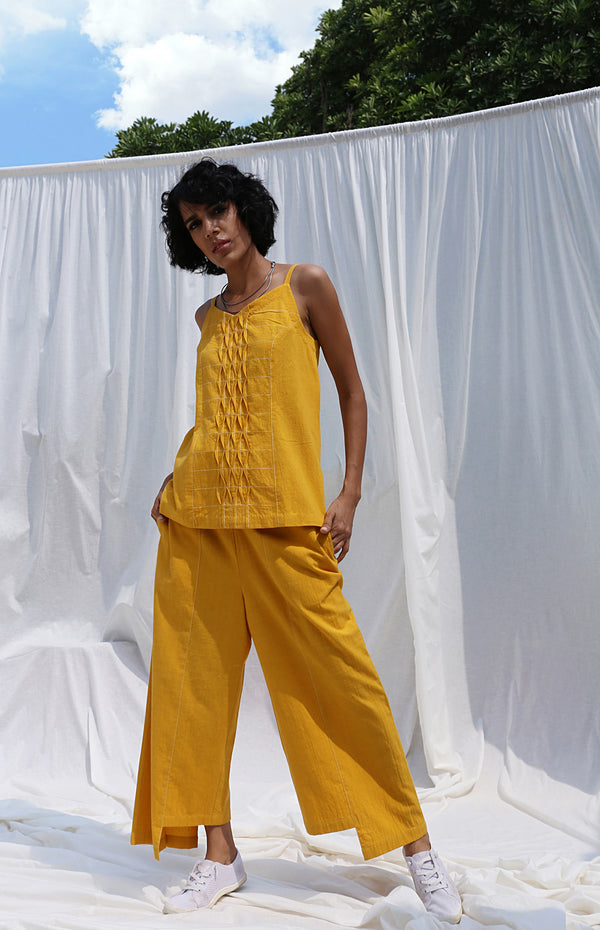 Mustard Camisole Top And Pants