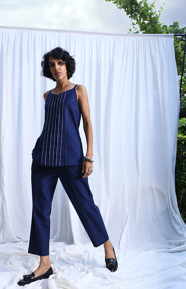 Dark Blue Camisole Top And Pants