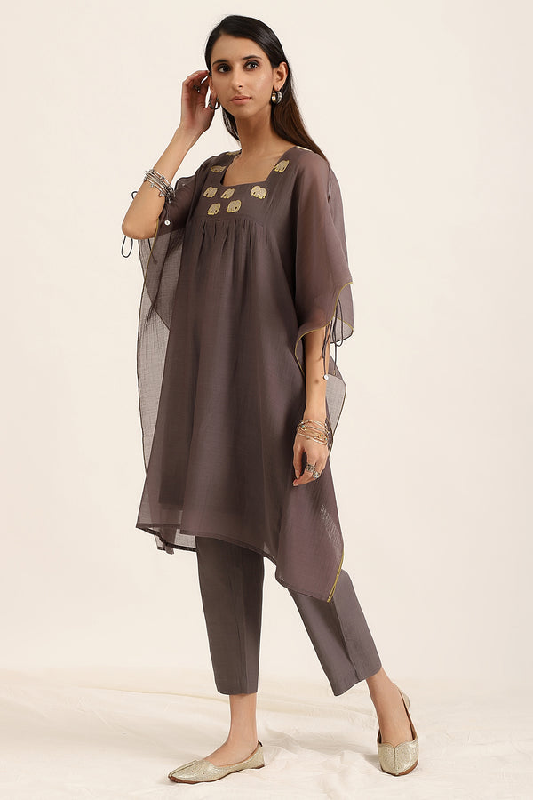 Slate Grey Kaftan with Pants