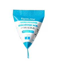 FarmStay Baking Powder Hyaluronic Acid Pore Scrub Скраб в пирамидках для очищения пор с содой и гиалуроновой кислотой