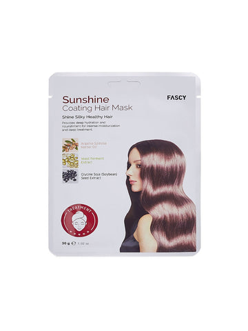 Fascy Sunshine Coating Hair Mask Восстанавливающая маска-шапочка для волос с аргановым маслом