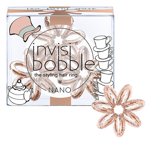 Резинка для волос invisibobble NANO Tea Party Spark