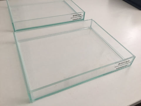 Glass landscape tray