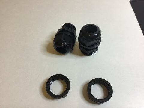 Black tube connector, 10-12mm with 20mm screw section Pack of two