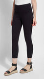 Crop Toothpick Denim Lysse Leggings (Black)