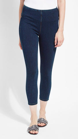 Crop Toothpick Denim Lysse Leggings (Indigo)