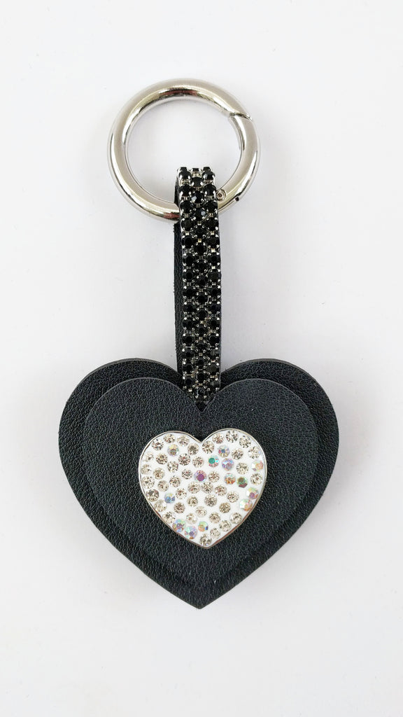 Crystal Heart Keyring charm (3 colours)