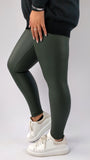 Essential Pleather Leggings (Black, Khaki, or Grey) - Restocked!