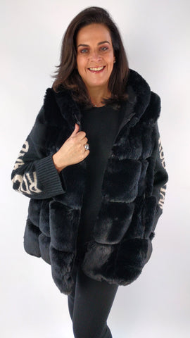 Long Hooded Faux Fur Gilet (6 Colours)
