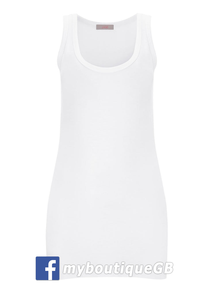 Essential Tank Vest Top in White