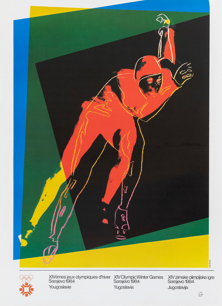 Andy Warhol - Sarajevo Winter Olympic Games Original Lithograph 1984
