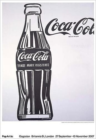 Andy Warhol - Coca Cola Pop Art is Gagosian Exhibition Original Lithograph 2007