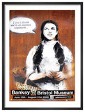 Banksy - I don't think we're on canvas anymore Original Bristol Museum Exhibition Poster 2009