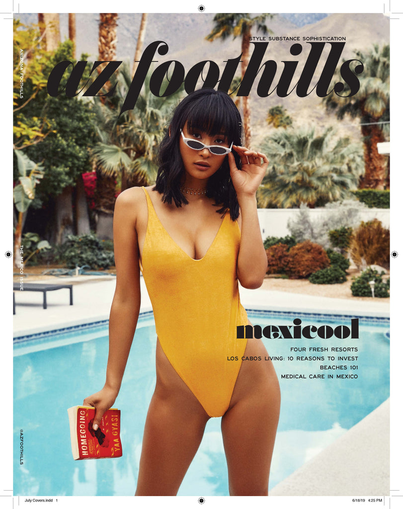 Monica Hansen Beachwear featured in AZ Foothills Magazine