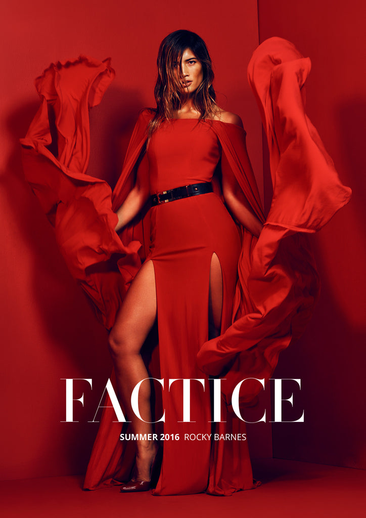 Summer 2016 Issue of Factice Magazine featuring model and blogger Rocky Barnes wearing Monica Hansen Beachwear!