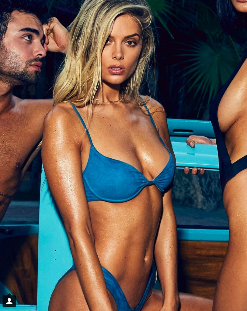 Danielle Knudson wear Monica Hansen Beachwear in new campaign for DocBlockSun