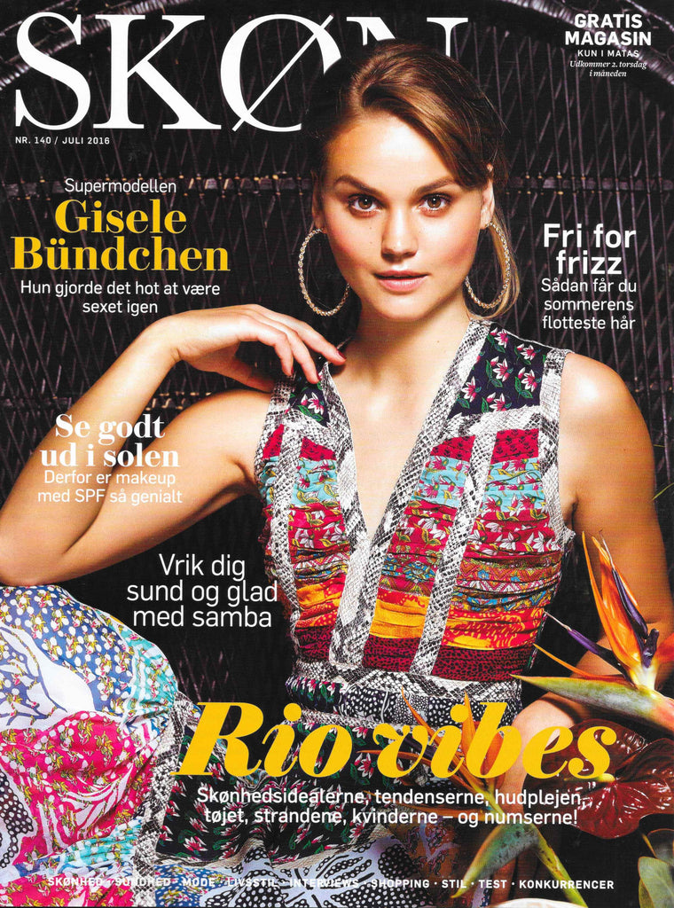 Monica Hansen Beachwear featured in Denmark's Skon Magazine