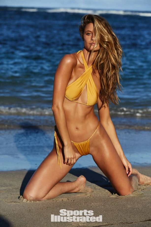 Monica Hansen Beachwear Featured in Sports Illustrated 2018 Swimsuit Edition on Kate Bock