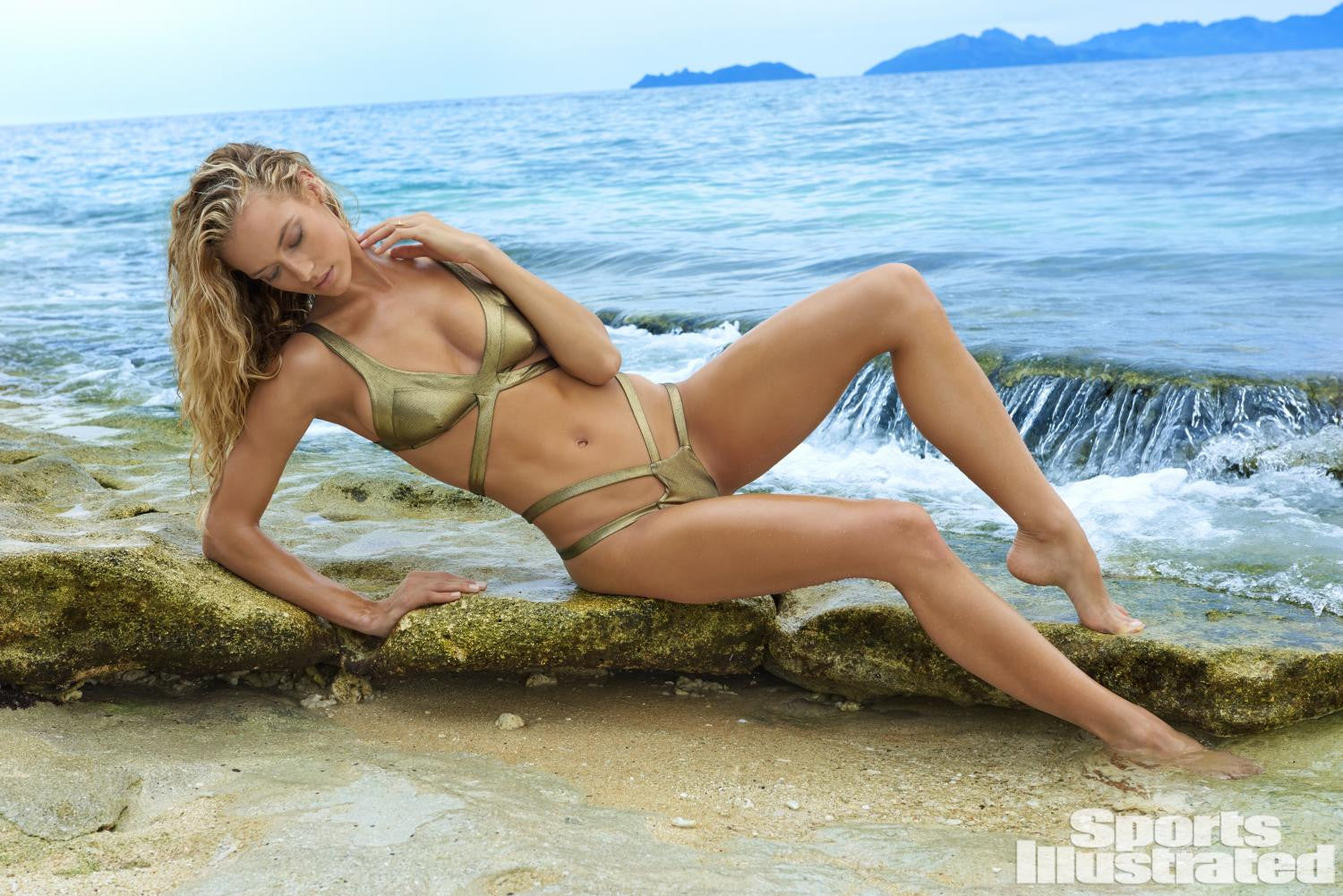 SI.com featuring model Hannah Ferguson wearing Monica Hansen Beachwear