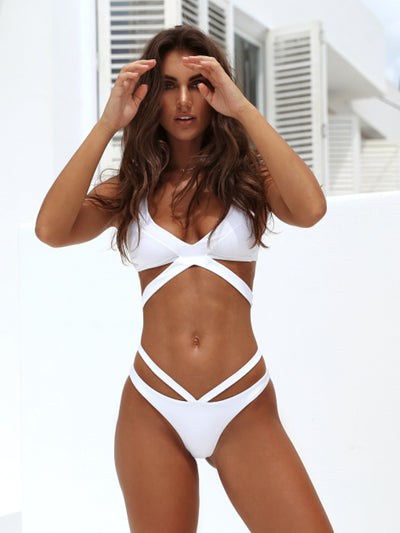 Beach Candy 2 Strap Full Coverage Bottom-Monica Hansen Beachwear