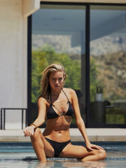 Forever Pearls Smooth Jeweled Front Bikini Top - - High End Bikini Tops | Monica Hansen Beachwear