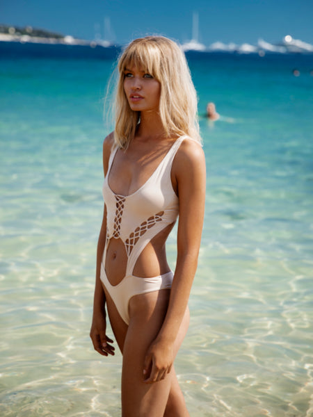 Bohemian Summer Lace Up Monokini