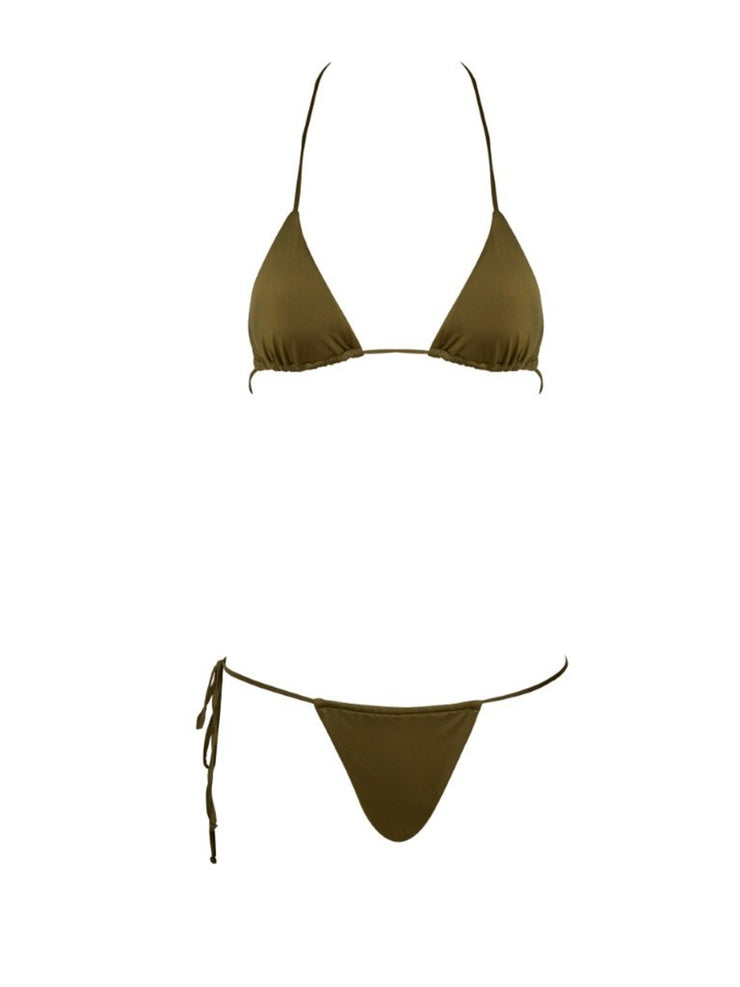 That 90's Vibe Padded Triangle Top - High Fashion Bathing Suit Tops | Monica Hansen Beachwear