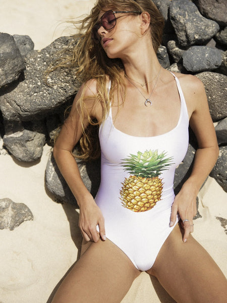 Pineapple Lovers Criss-Cross One Piece