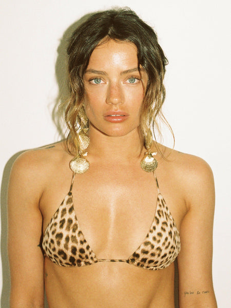 That 90's Vibe Leopard Padded Triangle Top