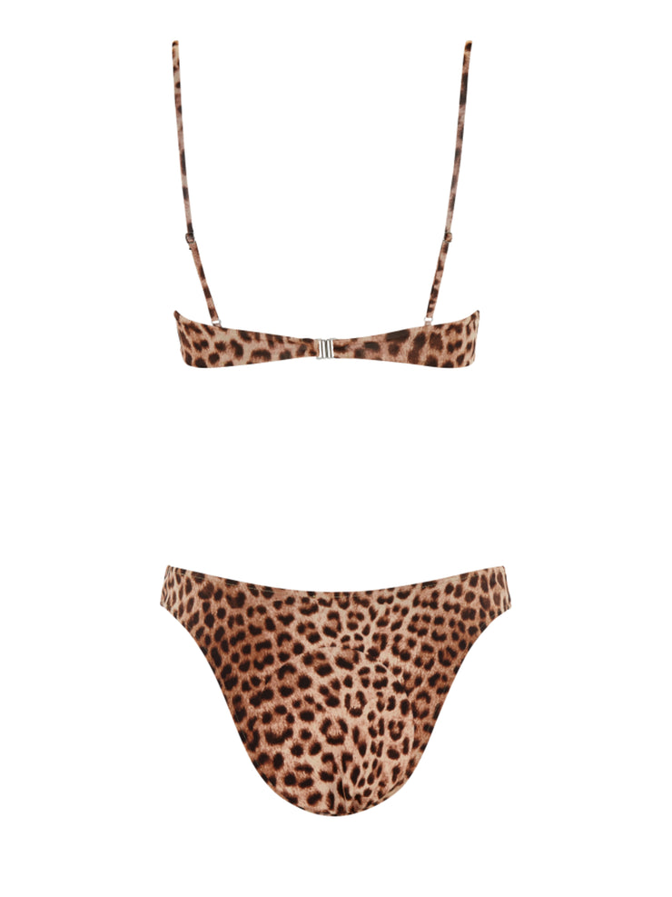 "Leopard Suede ""U"" Bottom-Monica Hansen Beachwear"