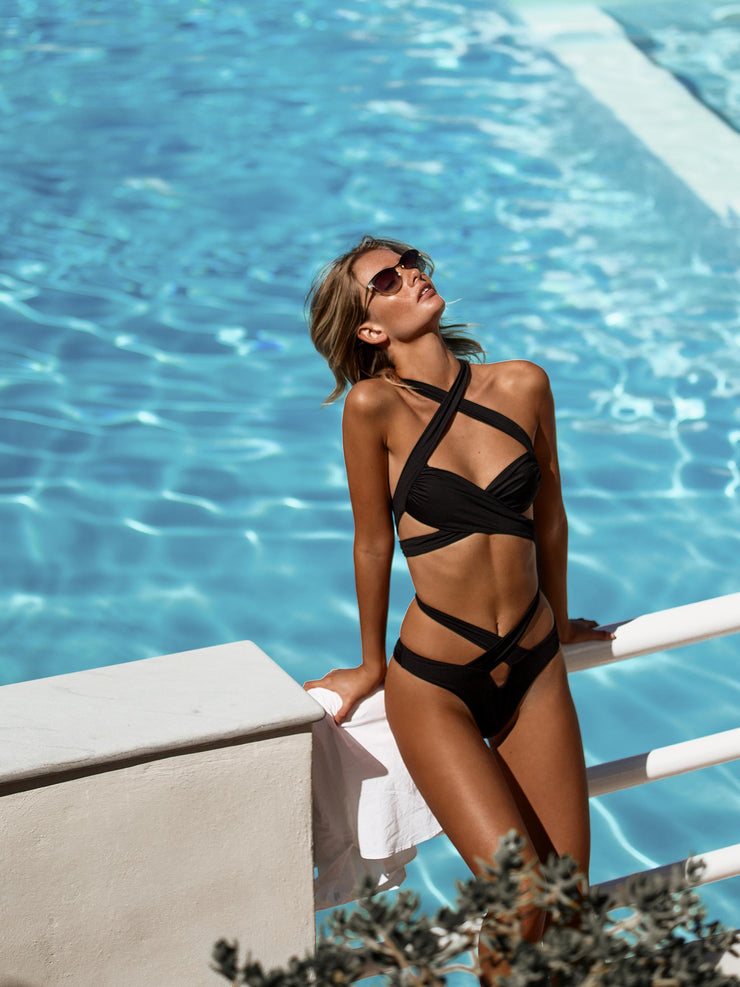 Endless Summer Cross Over Bikini Top - - Designer Two-piece Tops | Monica Hansen Beachwear