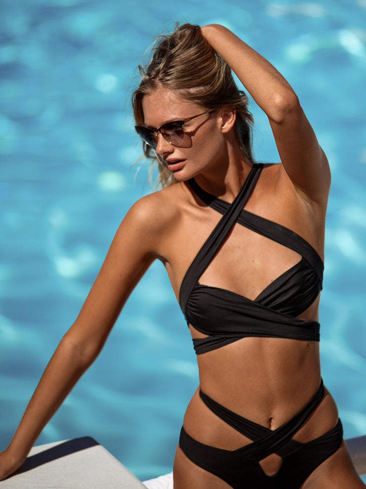 Endless Summer Cross Over Bikini Top - - High Fashion Swimsuit Tops | Monica Hansen Beachwear