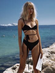 That 90's Vibe Wrap Around Bikini Top - - Designer Two-piece Tops | Monica Hansen Beachwear