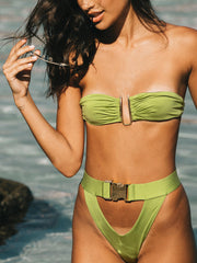 Tropical Affair Bandeau Top-Monica Hansen Beachwear