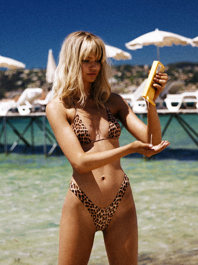 "That 90's Vibe Leopard ""U"" Bikini Bottom - - Luxury Bikini Bottoms 