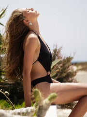That 90's Vibe Flower Cut Out One Piece Swimsuit - - Sexy Bathing Suits | Monica Hansen Beachwear