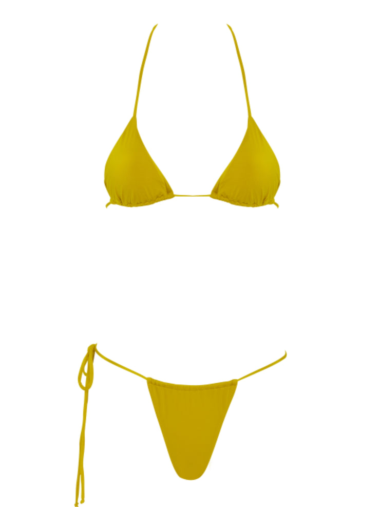 That 90's Vibe Padded Triangle Top - High Fashion Bikini Tops | Monica Hansen Beachwear
