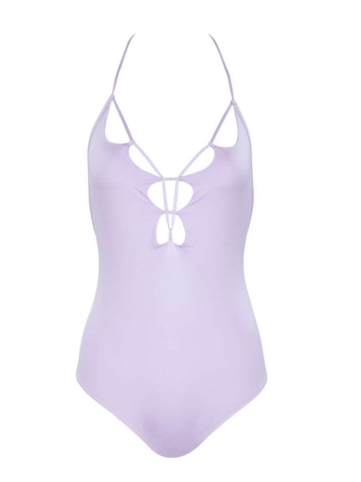That 90's Vibe Scalloped One Piece Swimsuit - Lavender - Sexy Bathing Suits | Monica Hansen Beachwear