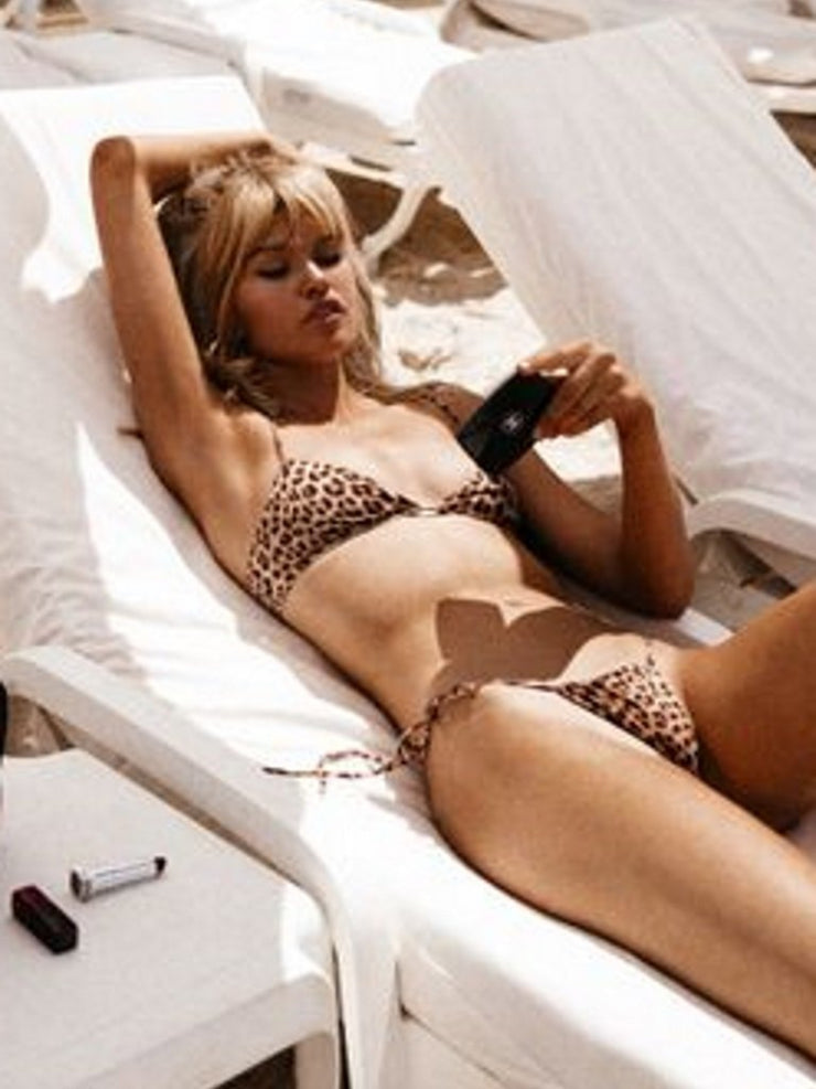 That 90's Vibe Leopard String Bikini Bottom - - Sexy Swimsuit Bottoms | Monica Hansen Beachwear