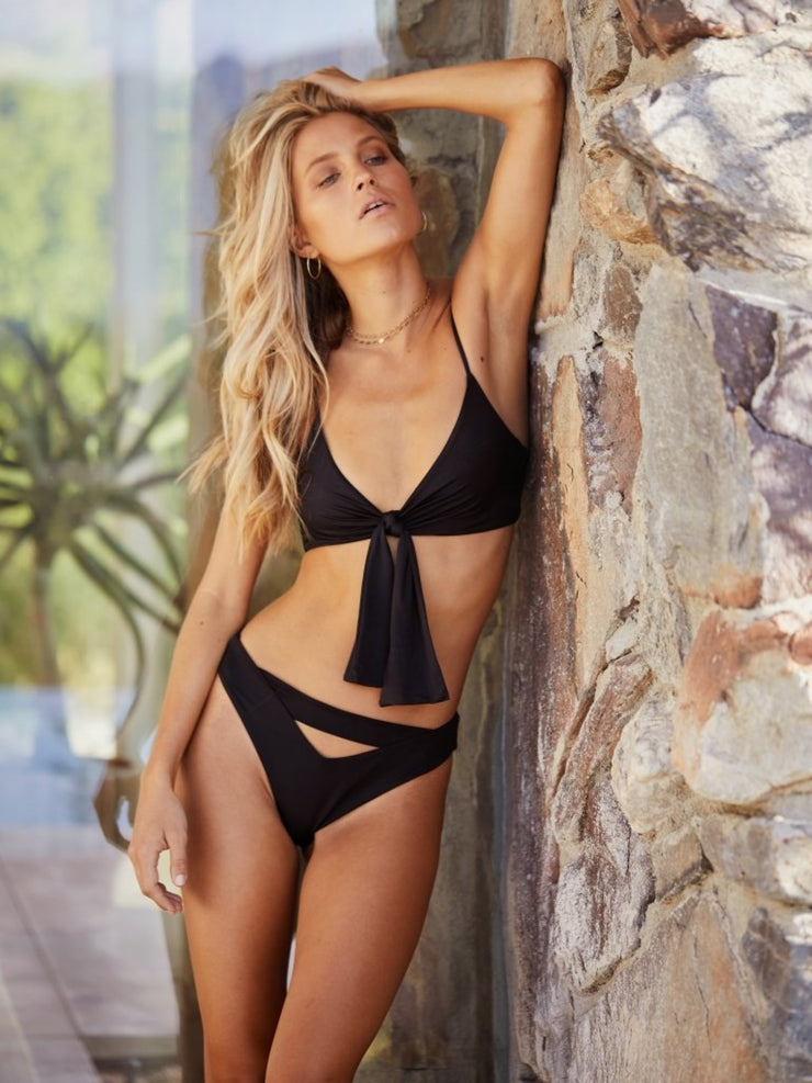 Start Me Up Top With Detachable Front Bow-Monica Hansen Beachwear