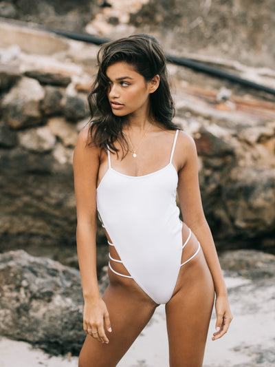 Havana Open Side One Piece Swimsuit - - Luxury Swimsuits | Monica Hansen Beachwear