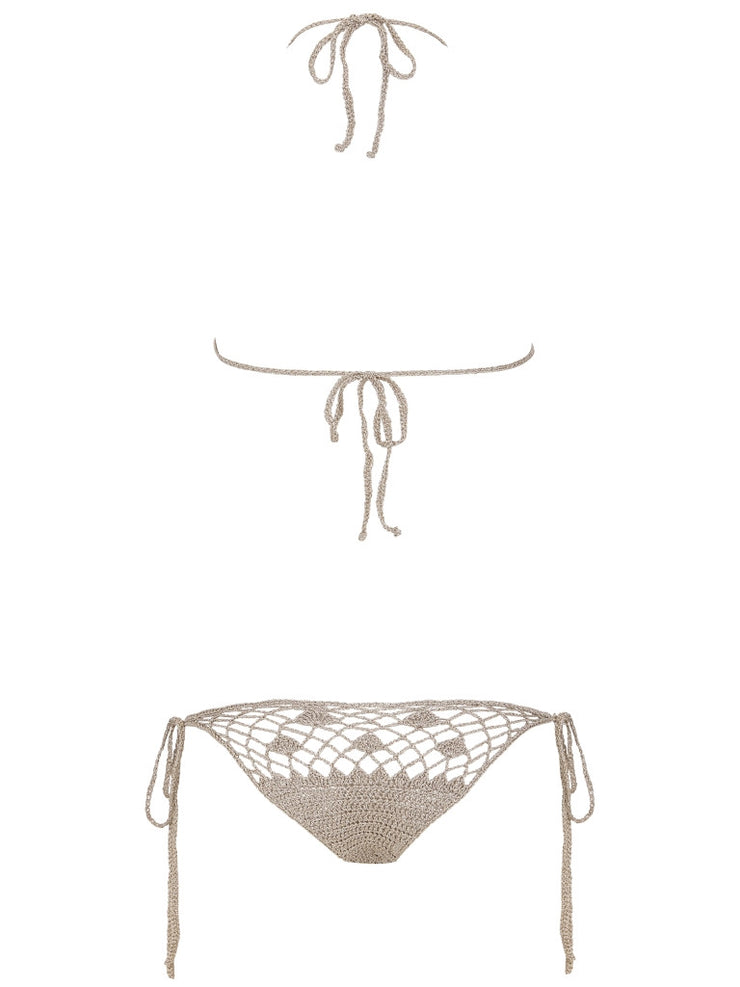 Coachella Bella Fuller Coverage Lame Top-Monica Hansen Beachwear