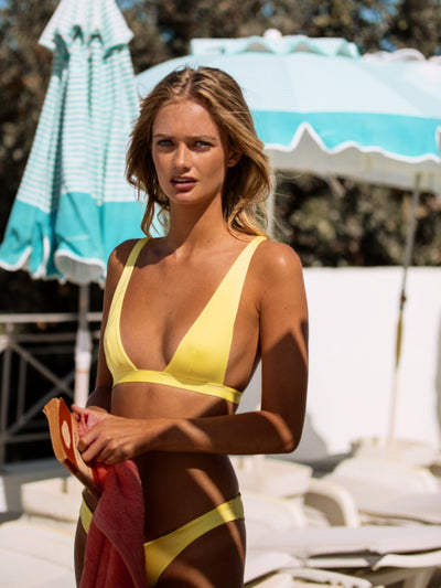 "Babe Watch Deep ""U"" Halter Top-Monica Hansen Beachwear"