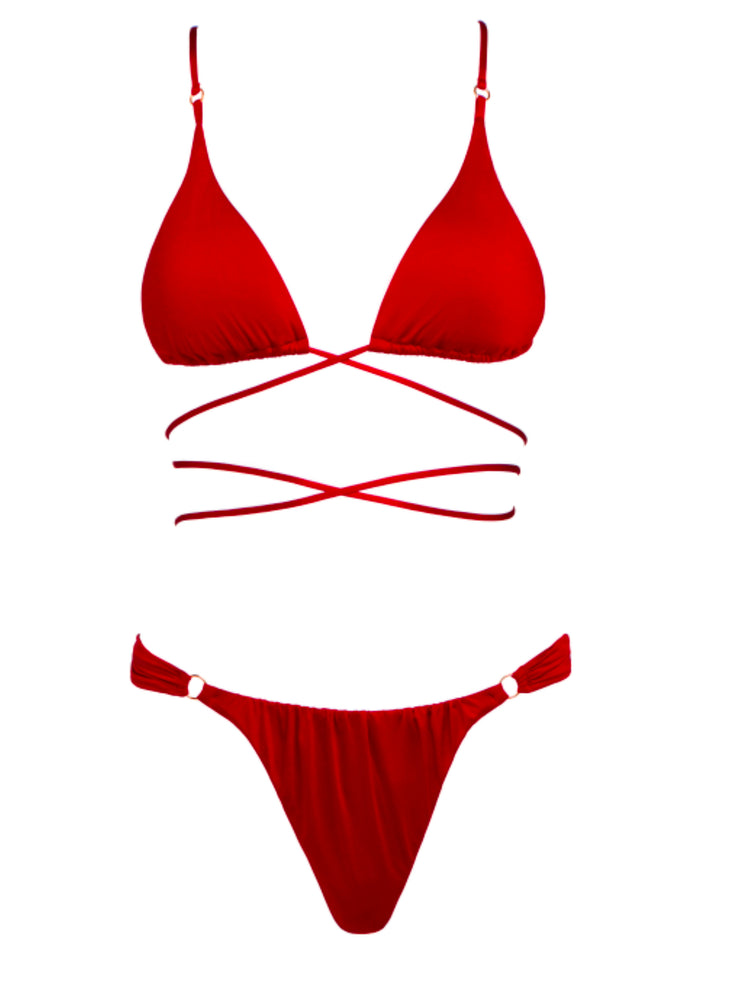 Bond Girl Wrap Around Triangle Top - High Fashion Bikini Tops | Monica Hansen Beachwear
