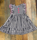 Sage and Lilly Navy/ Pink Gingham Button Dress