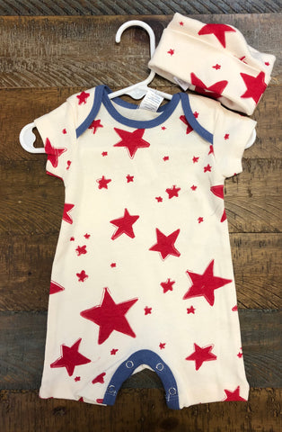 Red Starlight Shortie Romper